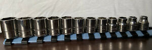 Snap On 3 8 12 Piece Metric Flank Drive Shallow Socket Set 6 Point 8 19mm
