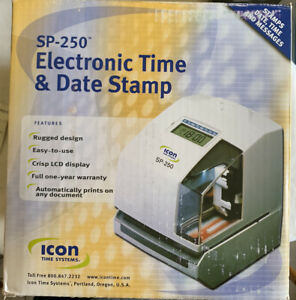 Icon Time Systems Sp 250 Electronic Time Clock And Date Stamp