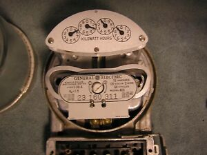 Vintage G E House Meter Model Ac5 15 Amp 120 Volt 2 Wire
