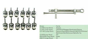 Dental Implant Torque Wrench 10 70ncm Ratchet Repair Tool Kit With 12type Driver