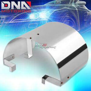 3 3 5 Universal Cone Stainless Steel Chrome Heat Shield Air Intake Filter Cover