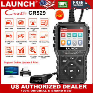 Launch Obd2 Scan Tool Cr529 Check Engine Live Data I M Readiness O2 Code Reader