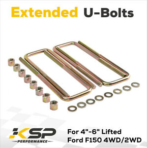 Square U Bolts For 3 Wide Leaf Spring 13 4 Long 9 16 For 2004 2020 Ford F150