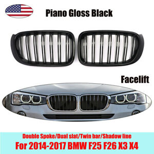 M Sport Front Kidney Grill Double Spoke Grille For Bmw F25 F26 X3 X4 2014 2017