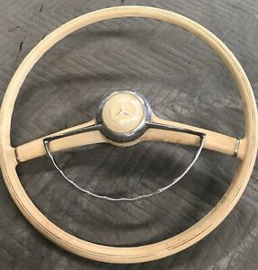 1956 1960 Mercedes 190sl Factory Original Ivory Steering Wheel Oem