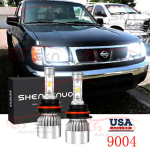For Nissan Frontier 1998 2000 9004 Hb1 Led Headlight Hi low Beam 6000k Bulbs Kit