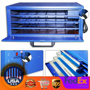 4 Layers 21x 25 Screen Printing Drying Cabinet Silk Screen Frame Dryer