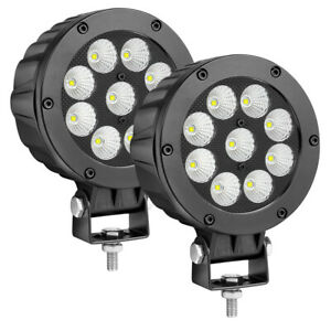 5 Cree Round Led Driving Lights 6500k Flood Combo Truck Work Pods Off Road 4wd
