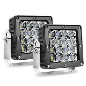 2x 6 160w Cree Led Driving Spot Lights Work Headlight Pods Offroad 4wd Atv 5 5