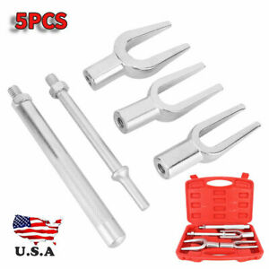 5pcs Tie Rod Ball Joint Pitman Arm Joint Remover Separator Pickle Fork Tool Set