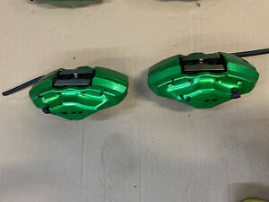 Brembo Rear Brake Caliper Set 2008 2017 Subaru Impreza Wxr Sti Black Green Bbk