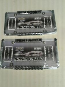 Diesel Power License Plate Frames Pair 22003