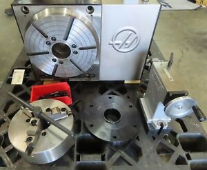 Haas Hrt 310 Cnc Rotary Table With Tailstock And Chuck