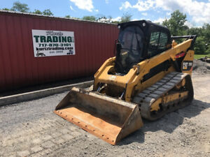 2015 Caterpillar 299d Compact Track Skid Steer Loader W Cab 2spd Super Clean
