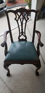 Vintage Mahogany Chippendale Ball Claw Chair