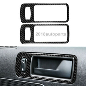 Carbon Fiber Car Door Handle Panel Frame Cover Fit For Ford Mustang 2009 2013