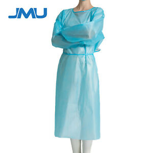 5pcs Medical Dental Non surgical Isolation Gown Workwear Protection Clothing