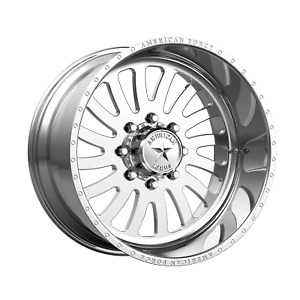 20x10 American Force Octane Ss Polished Wheels 5x5 18mm Set Of 4