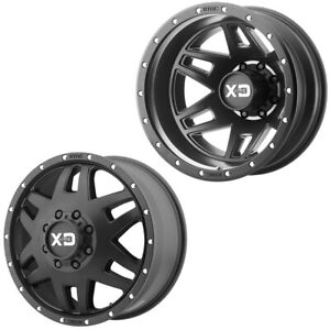 20x8 25 Xd Series Xd130 Machete Black Pre 19 Dodge Dually Wheels 8x6 5 Set Of 6