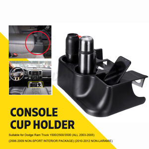 Us Center Console Cup Holder Black Abs For Dodge Ram 03 12 Add On