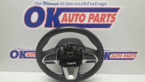 2016 Dodge Charger Sxt Steering Wheel Assembly Black Leather