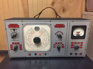 Vtg 1940 s Sprague Tel ohmike Model 16 Vacuum Tube Amp Capacitor Analyzer Tester