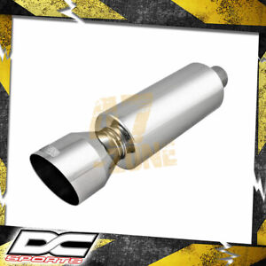 Dc Sports Universal Round Muffler Angle Tip 2 Inlet X 4 25 Outlet X 18in