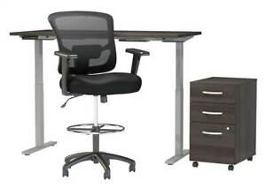 3 pc Standing Desk Set In Storm Gray Finish id 4068185
