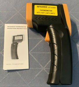 Infrared Thermometer Dt 8380 C f Selection Switch With Lcd With Backlight Laser