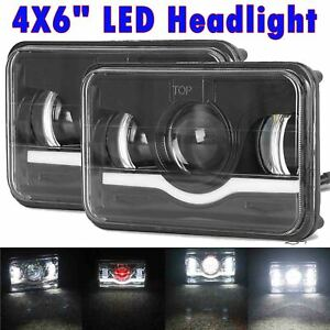 4x6 Inch 300w Led Headlight Drl High Low Black Sealed Beam For Chevrolet Camaro