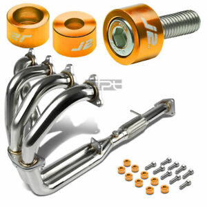 J2 For H23 bb2 Stainless Exhaust Manifold 4 2 1 Header gold Washer Cup Bolt
