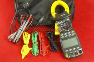 New Pm2203 Peakmeter 3 Phase Trms Digital Clamp Meter Power Factor Correction