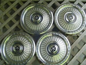 1959 59 Desoto Firedome Firesweep Fireflite Adventurer Hubcaps Wheel Covers Rims