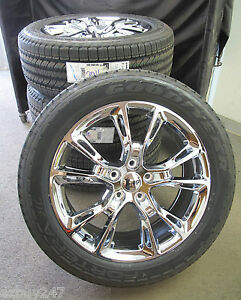 20 Jeep Grand Cherokee Srt8 Style 20x9 Chrome Set Of Four Wheels And Tires 9113
