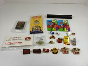 Vintage Pin Collection Miscellaneous Coca Cola Olympics Office Depot USA Etc