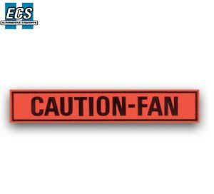 Ford Mustang Caution Fan Decal 1967 1968 1969 1970 1971 1972 1973 Factory Exact