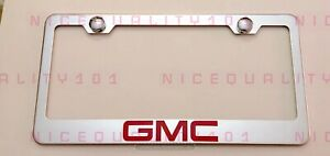 Gmc Stainless Steel Chrome Finished License Plate Frame Holder