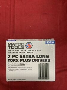 New Matco 1 4 Drive 7pc Torx Plus Extra Long Hex Drivers S7aipxl