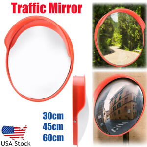 12 18 24 Outdoor Traffic Safety Security Convex Pc Mirror Driveway Blind Spot