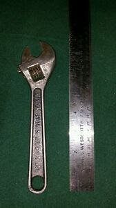 Rare Peck Stow Wilcox Co 8 Heavy Duty Adjustable Wrench Forged Steel Usa 54b