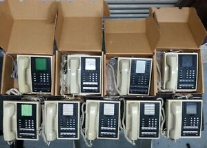 Comdial Executech Office Desk Telephones Lot Of 9 Plus Extras