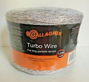 Gallagher Turbo Wire 2640 1 2 Mile Long Portable Electric Fence Farm New