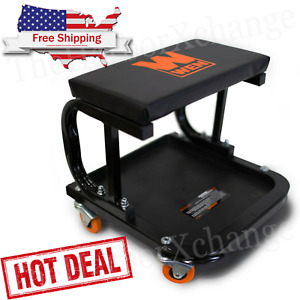 Rolling Seat Stool Chair Tray Storage Tools Shop Auto Car Garage Mechanic 250lbs