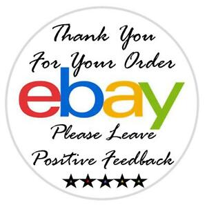 Thank You For Your Ebay Purchase Labels Stickers Seals Multiple Sizes