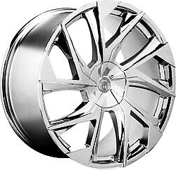 24x10 Lexani 670 Ghost Chrome Wheels 6x135 6x5 5 30mm Set Of 4