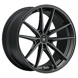 19x8 5 Konig 37b Oversteer Gloss Black Wheels 5x112 42mm Set Of 4
