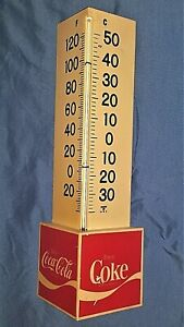 VINTAGE 70's Coca-Cola Triangle Thermometer Indoor/Outdoor~Ready to Hang~CUTE