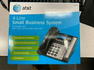 At t 4 line Small Business System Phone 1040 1070 1080 Compatible Black W Box