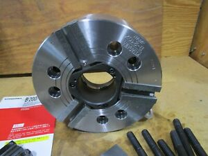 10 Kitagawa 3 jaw Power Chuck Model B210 X With A8 Plate Soft Jaws Never Used