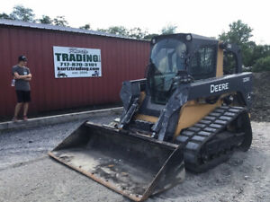 2012 John Deere 329d Compact Track Skid Steer Loader Cab 2spd High Flow 2200hrs